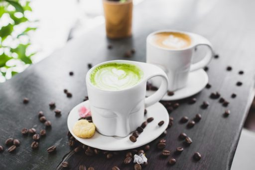 cafe vs te matcha